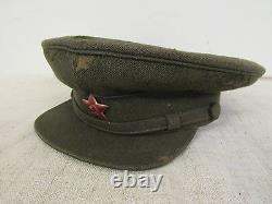 Seconde Guerre Mondiale Officiers Soviétiques Russe Champ Visor Hat