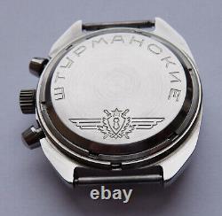 Shturmanskie 31659 Vintage Urss Russie Montre Soviétique Poljot Chronographe 2888