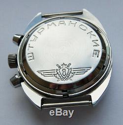 Shturmanskie Urss Vintage Montre Soviétique Russe Poljot Chronographe 31659 92353