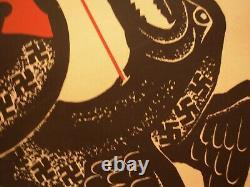 Soviet Original Silkscreen Poster Glory To Winner Ussr Soldier Wwii Anti-nazi