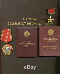 Soviet Soviétique Complète Le Héros Du Groupe Travailliste Socialiste Avec Tous Les Documents