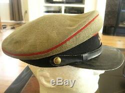 Soviétique De Russie Ww2 Officiers D'origine Artillerie Visor Hat