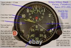 Soviétique Russe Mig Horloge Achs-1m Cockpit Military Aircraft Man Cave Desktop