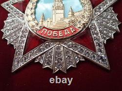 Soviétique Russe Plus Haute Récompense Ww2 Ordre De Victoire 1945. Swarovski Crystals Copie