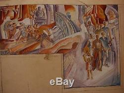 Soviétique Russe Ukrainien L'ouvrier Et La Kolkhozienne Croquis Peinture Monumentale