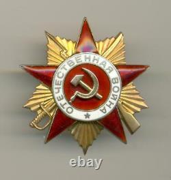 Soviétique Russe Urss Ordre De La Guerre Patriotique 1ère Classe S/n 102372