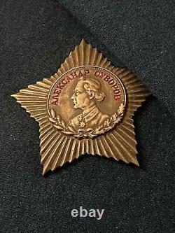 Soviétique Russian Uniform Major General Engineering Special Troops M1954 W Médailles