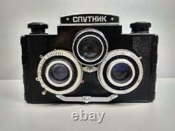 Spoutnik 6x6 Tlr Double Lens Reflex Stéréoscopiques Lomo Urss Russe Stereo Camera