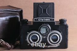 Sputnik Soviet Camera Vintage Russe 6x6cm Gomz Vintage Stéréo Moyen Film