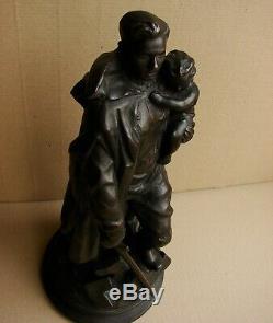 Statue Soviétique Russe Soldat Libérateur Métal Berlin Vuchetich Grande Rare Ww2