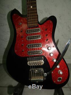 Stella Urss Rostov Rare Vintage Guitare Électrique Soviétique Russe