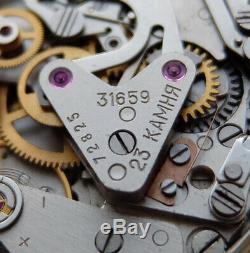 Sturmanskie Urss Vintage Montre Soviétique Russe Poljot Chronographe 31659 72825
