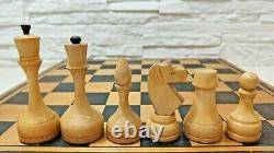 Tournoi Hess Mis Soviétique Russe Gros Échecs En Bois Vintage Grande Urss D'échecs