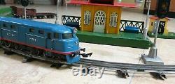 Train Urss (cccp) Chemin De Fer Russe Vtg- Jouet D'étain'pionerskaya Moskabel Soviet