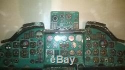 Tu-134 Avions Militaires Pleine Cockpit Pilote Soviétique Russe Panel Instrumental