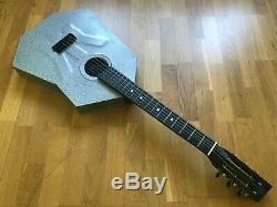 Urss 70 Rare Corps Métal Aluminium Acier Soviétique Russe Vintage Guitare Acoustique