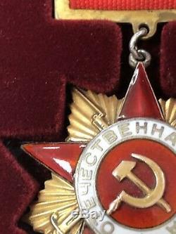 Urss Award Soviétique Russe Pin Order De Grande Guerre Patriotique 1ère Classe Rr N14849
