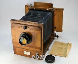 Urss Russie Fkd 13x18 Format De Large Camera + Industar-51 Lens (2)