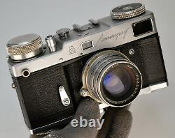 Urss Russie Leningrad Rangefinder Camera + Jupiter-8 Lentille, Serviced (4)
