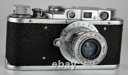 Urss Russie Zorki 1 Caméra + Objectif Industriel 22 Collapsible Tube, Serviced (2)
