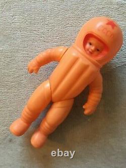 Urss Soviétique Cccp Russe Énorme 33 Cm's Doll Astronaut Cosmonaute Rare Toy (1961)