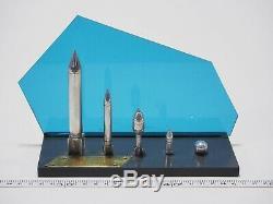 Urss Vintage Soviétique Spatiale Russe Rocket Modèle En Métal Fait Main Rare