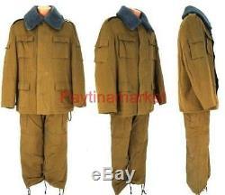 Véritable Veste Militaire Armée Russe Soviétique Forme Afro Costume D'hiver Urss Bushlat