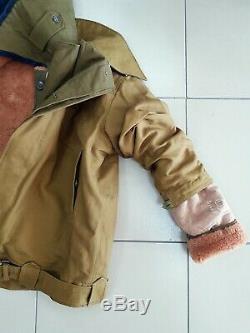 Veste Afghane Authentique En Uniforme D'hiver De L'armée Soviétique Russe Pour Officiers Tankistes