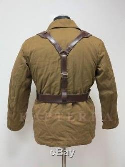 Veste D'uniforme D'hiver Originale De L'armée Rouge Russe Soviétique + Ceinture + Bretelles