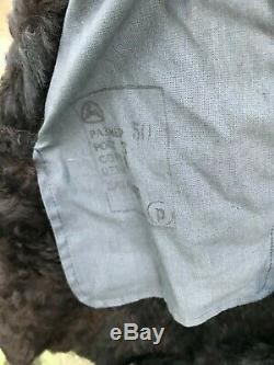 Veste En Peau De Mouton Bekesha Officier De L'armée Russe D'hiver En Peau De Mouton Manteau Urss Noir