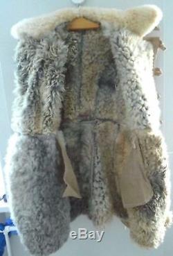 Veste En Peau De Mouton Bekesha Officier De L'armée Russe D'hiver En Peau De Mouton Manteau Urss Touloupe