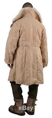 Veste En Peau De Mouton Blanche 100% Manteau Original Homme Militaire De Pêche De L'urss Armée Russe