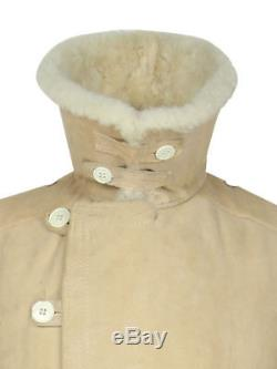 Veste En Peau De Mouton De L'armée De L'urss, Officier D'hiver Russe Tulup Bekesha