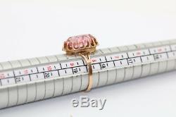 Vintage 14k 583 Rose D'or De Russie Soviétique Urss Ring, 4,69 Gr. N511g