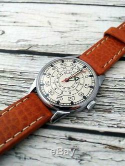 Vintage Aviator Russian Watch 2209 Urss D'origine Soviétique Hommes Laco Mécanique