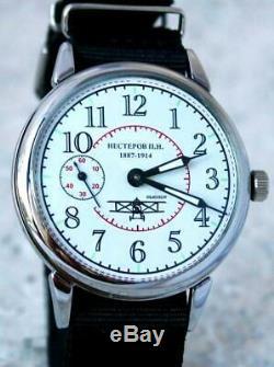 Vintage Laco Montre-bracelet Urss Russe Aviator Soviétique Mécaniques Rares Hommes Servi