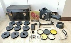 Vintage Original Kit Complet! Caméra Soviétique 16 MM Russe Movie Krasnogorsk-3