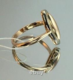 Vintage Original Soviet Russian Rose Gold Ring 583 14k Urss, Anneau D'or Russe