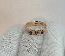 Vintage Originale Soviétique Russe Alexandrite Or Rose Anneau 583 Urss 14k