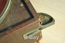 Vintage Portable Soviétique Gramophone Russe Pathéphone Molot Gramophone. Travaux