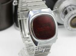 Vintage Pulsar Elektronika 1 Première Urss Russe Numérique Led Rouge Montre-bracelet