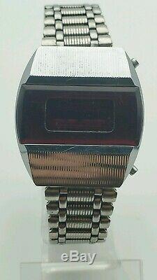 Vintage Pulsar Elektronika 1 Première Urss Russe Numérique Led Rouge Montre-bracelet 4295