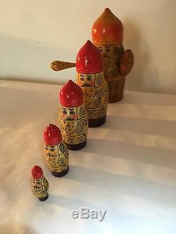 Vintage Russe Matriochka 5 Urss Nesting Dolls Sticker Viking Warrior