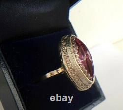 Vintage Russe Soviet Sterling Argent 875 Anneau Urss Alexandrite, Bijoux Pour Femmes