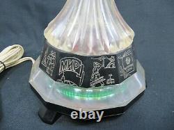 Vintage Soviet Russian Ussr Cccp Desk Souvenir Atomic Space Age Rocket Lamp