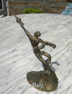 Vintage Soviétique Soviétique Soviétique Astronaute De Bronze Statue Statue Espace Youri Gagarine