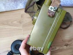 Vintage Soviétique Urss Militaire Radio R-126 Field Radio Operator Casque