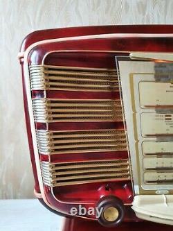 Vintage Tube Radio Zvezda 54 Red Star 54 Russie Urss 1955y