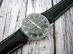 Vintage Urss Russe Montre-bracelet Mécanique Rares Air Force Militaire Soviétique Hommes