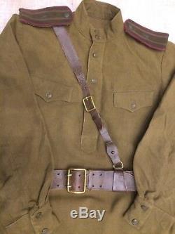 Ww -2 Ensemble Soviétique Russe Uniforme Veste Tunique + Culottes + Ceinture Style 1943-1945